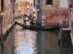 classic #gondola ride along the small canals in #venice