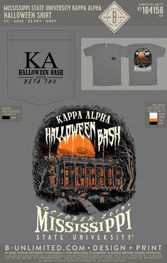 Kappa Alpha Order Halloween Shirt | Fraternity Event | Greek Event #kappaalphaorder #kappaalpha #theorder #ka #halloween Fraternity Shirts, Sorority And Fraternity, Kappa Alpha Order, Mississippi State, Halloween Shirt, Greek, Holidays, Holidays Events, Holiday