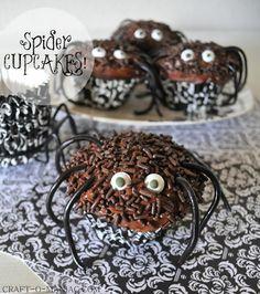 Spider Cupcakes! #Halloween Treat #Halloween #cupcakes