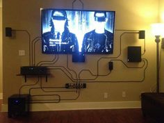 If you can't hide your wires then you should show them off in the best way possible.