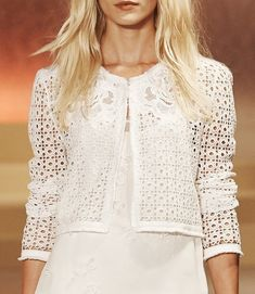 White Lace Blazer to Add to Your Clothes More Charming and Lace Blazer, Lace Jacket, Couture Dresses, Fashion Dresses, Kinds Of Clothes, Clothes For Women, Patron Vintage, Stitching Dresses, Dress Patterns