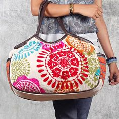 Sun Suzani Bag in White from the Purva Designs event at Joss and Main