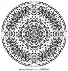 Flower Mandalas Vintage Decorative Elements Oriental Pattern Illustration Islam Arabic Indian Turkish Pakistan Chinese Ottoman Motifs