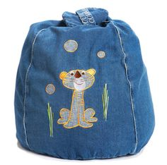 Timmy Tiger Denim Bean Bag  from cocooncouture.com
