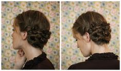 Faux Braided Updo