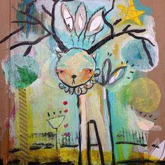 A little painting on cardboard… http://juliettecrane.com #juliettecrane #serendipityclass