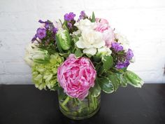 Garden Inspired Mother's Day Floral Arrangment with Peonies, Phlox, and Hydrangea by Life in Bloom