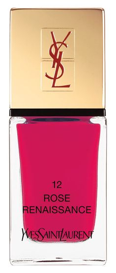 Feeling couture to the fingertips with this Yves Saint Laurent 'rose renaissance' shade of nail lacquer.