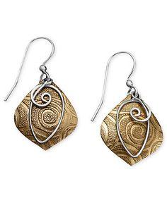 Jody Coyote Bronze Earrings, Textured Drop Earrings - Earrings - Jewelry & Watches - Macy's