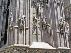 Category:Exterior of the Duomo (Milan) - Wikimedia Commons Wikimedia Commons, Exterior, Statue, Outdoor Spaces, Sculpture