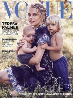 Opening up: Teresa Palmer talks motherhood as she covers Vogue Australia with her sons For...