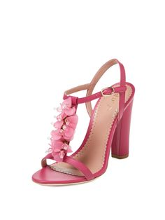 Flower T-Strap High Sandal by RED Valentino at Gilt