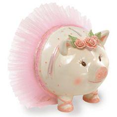 Ballerina Giant Piggy Bank   Baby   Mud Pie