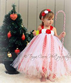 Red White Christmas Tutu Dress, Pageant Tutu Dress, Christmas Tutu 12 month to 2 Toddler. $62.50, via Etsy.