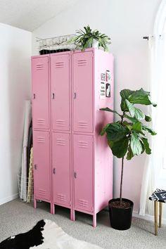 #interior #pink #lockers