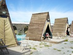 The Beach Camp at Paternoster, West Coast RSA. Create structure out of PVC and canvas to make it portable. Camping Places, Camping Spots, Camping Glamping, Beach Camping, Luxury Tents, Kwazulu Natal, Beach Shack, Cape Town, Beautiful Beaches