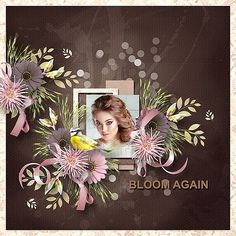 Layouts, Digital Art, Bloom, Scrapbooking, Kit, Store, Frame, Creative, Design