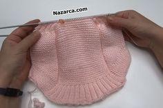 ASKILI VEREV BEBEK BOLERO YAPIMI | Nazarca.com Baby Knitting Patterns, Knitted Hats, Diy And Crafts, Fashion, Knitting And Crocheting, Crafts, Tricot, Boleros, Manualidades