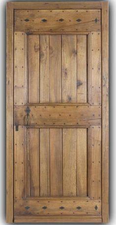 Cliquez pour decouvrir nos portes d'entrées House Main Gates Design, Gate Design, Door Design, Porta Colonial, Cabin Doors, House Doors, Oak Interior Doors, Glass Panel Door, Glass Panels