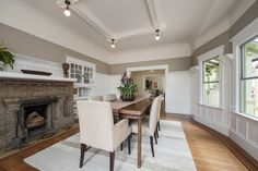 This charming 1910 craftsman in Berkeley features a gracious interior perfect for entertaining. Grand foyer, tall coved box-beam ceilings, formal dining room - we are a little in love. http://pacunion.us/2304Woolsey