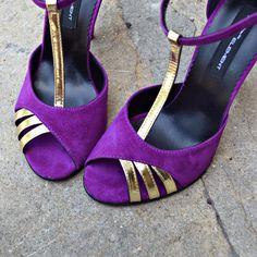#rosettishowroom #the5thelementstore #springsummer #sandals #highheels #purple #gold #pinupchic