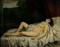 Gustave Courbet: nudo addormentato, The National Museum of western art, Tokyo Amedeo Modigliani, Manet, Philippe Sollers, Venus Images, Art Occidental, Gustave Courbet, French Paintings, Beautiful Paintings, Art Paintings