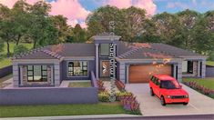 4 Bedroom House Plan – My Building Plans South Africa Round House Plans, Split Level House Plans, Double Storey House Plans, Tuscan House Plans, Square House Plans, Metal House Plans, House Plans With Photos, My House Plans, Family House Plans