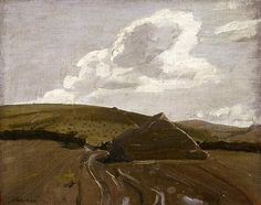 bofransson:  Sir William Nicholson (England 05 Feb 1872–16 May 1949) The stack, Hoar's Fields