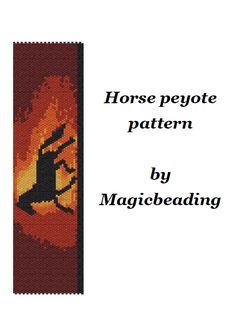(5) Name: 'Jewelry : Horse peyote pattern