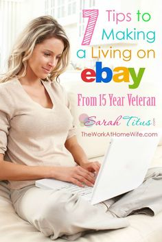 7 Tips to Making a Living on eBay from a 15 year veteran who has supported her family as a single mom completely on eBay! Money Making Ideas #Money Money Making Ideas, Making Money, #MakingMoney