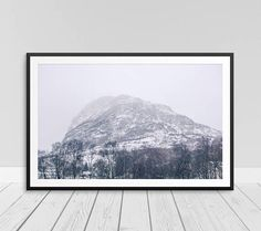 Moody Print Photography Mountain Wall Art Mountain