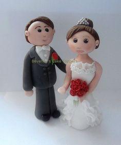 Thai clay   Bride & Groom, Bespoke, Handmade, Edible, Wedding, Cake Topper, sugar ...