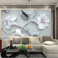 Custom photo wallpaper for living room painting bedroom Television wall murals PVC embossed wallpaper hotel wall paintings Lily Wallpaper, 3d Wallpaper Mural, Embossed Wallpaper, Painting Wallpaper, Photo Wallpaper, Tumblr Bedroom Decor, Room Wall Painting, Wall Paintings, House Painting