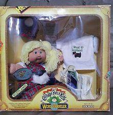 Excellent VTG Cabbage Patch Kids World Traveler Scotland All Original Everything