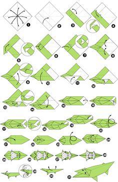 Origami de cocodrilo