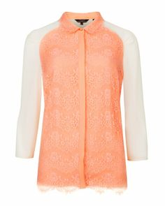 ABRA - Lace detail shirt - Nude Pink | Womens | Ted Baker