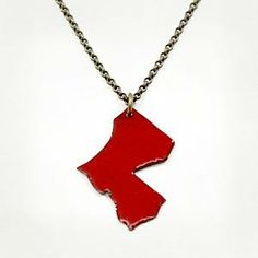 Enameled Louisiana Necklace Red : Red Arrow Workshop