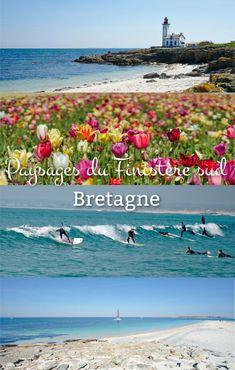 Voyage en France: Découverte du sud du finistère et de ses multiples facettes! En Bretagne on se sent tantôt aux pays-bas dans un champs de Tulipe, sur une plage de surf en Australie ou alors carrément Tahiti avec des plages de sable blanc et une eau turquoise :)