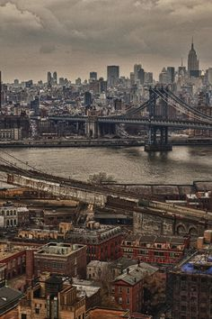"""Brian Joergens """"Paintography"""" image of Manhattan and Brooklyn that was taken from a friend's balcony."""