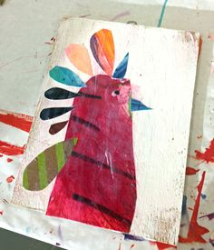 Pete Cromer Birds // Collage Project - Kids Art Classes, Camps, Parties and Events - Small Hands Big Art Kids Collage, Collage Artists, School Art Projects, Art School, Collage Drawing, Kids Art Class, Teaching Art, Teaching Ideas, Insect Art