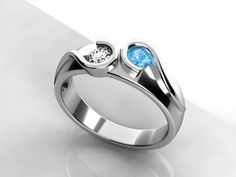 A mother's ring in platinum that looks cool vs old ladyish. Love love love this