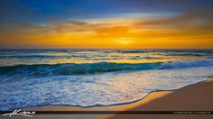 Juno Beach Sunrise Panorama HDR Wide Screen
