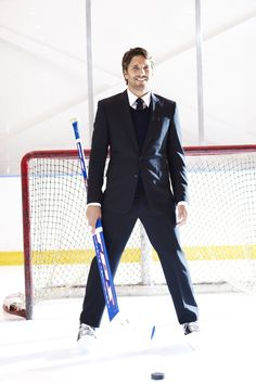 """The King"" Mr. Lundqvist looking pretty sharp here. Giving all us Swedish descended goalies a good name."