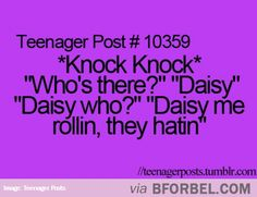 If You're Out Of Knock-Knock Jokes…
