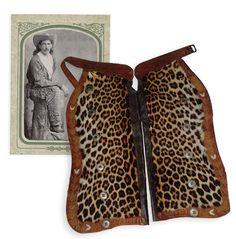 leopard skin chaps