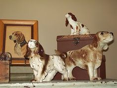 Walnut & Vine: some of my vintage dog figurine collection