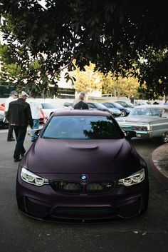 Matte Purple BMW
