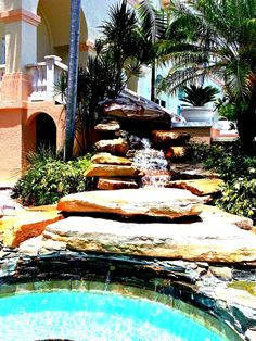 Waterfall Pool | Hilton Hotel (@hiltonnaples on Pinterest) | Naples, Florida