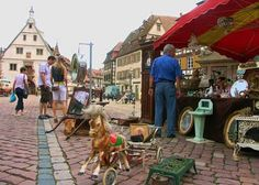Obernai France; 2:21hrs  every last Friday April to October. Small antiques flea market - Tourisme en Alsace - ADT du Bas-Rhin