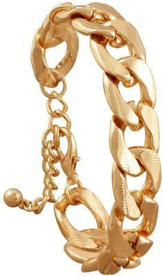 Material:  Goldfarbenes Armband mit großen Kettengliedern.   Länge:  20 - 26 cm   Breite:  ca. 1 cm